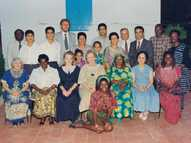 1991 Haifa, different guests from around the world with Madam Rabbani